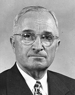 U.S. President Harry Truman - The first and only human leader to have given the orders to use the atomic bomb on other human beings.